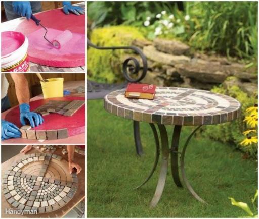 DIY Outdoor Mosaic Table Tutorial
