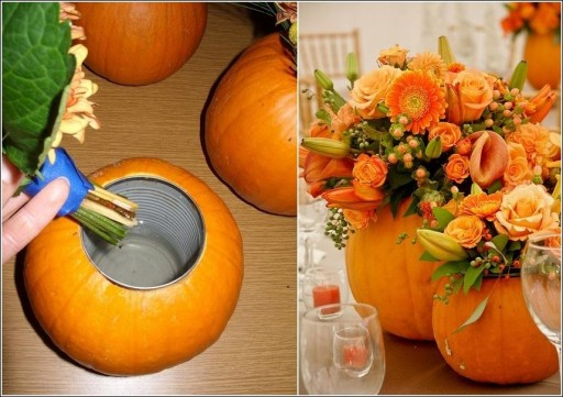 DIY Pumpkin Flower Arrangement Tutorial