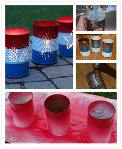 DIY Tin Can Luminaries Craft Tutorial 1