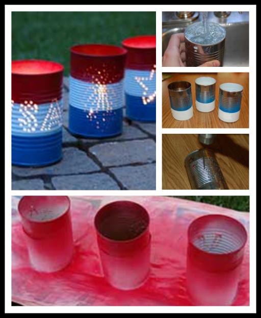 Diy tin can luminaries craft tutorial diy tag for Tin can diy