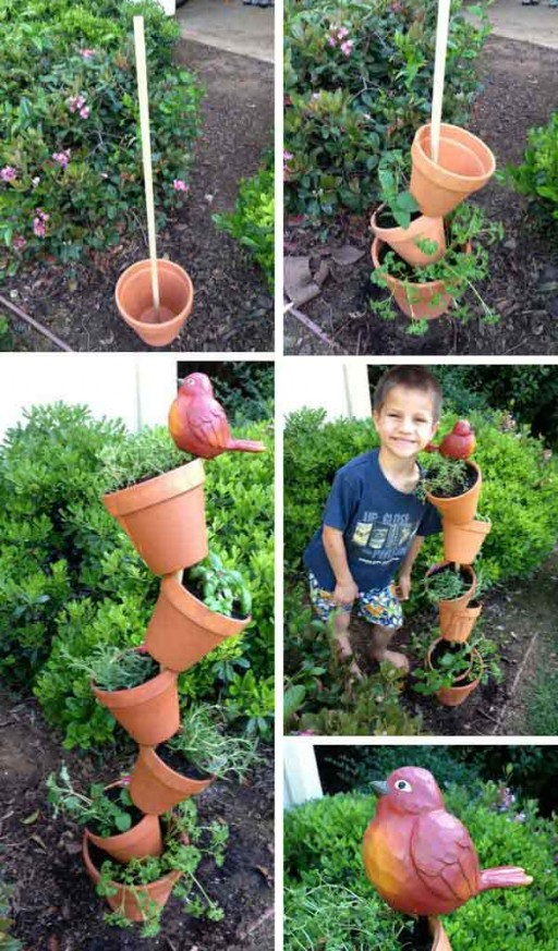 DIY Topsy Turvey Herb Garden Tutorial