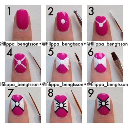 Easy Bow Tie Nail Art Tutorial