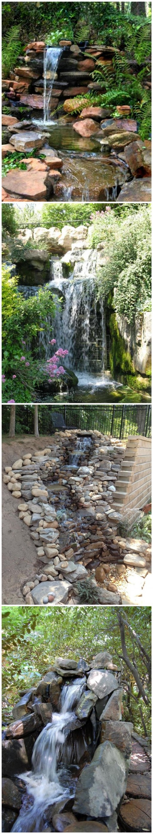 How to build a garden waterfall pond diy tag for How to make a fish pond