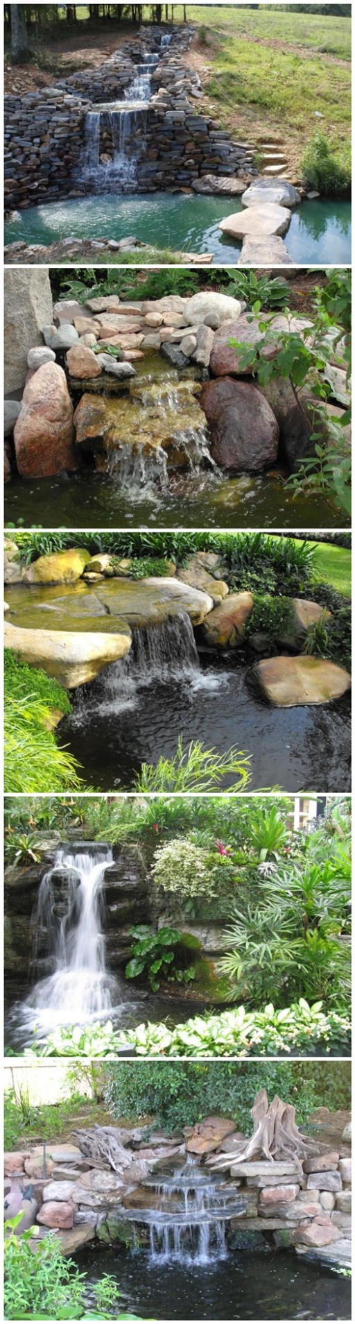 How to build a garden waterfall pond diy tag for Diy waterfall pond ideas