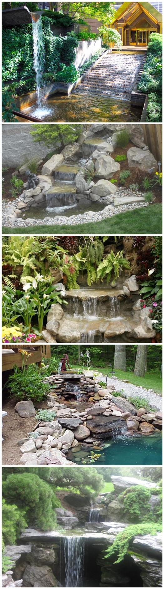 How to build a garden waterfall pond 3 diy tag for Building a fountain pond