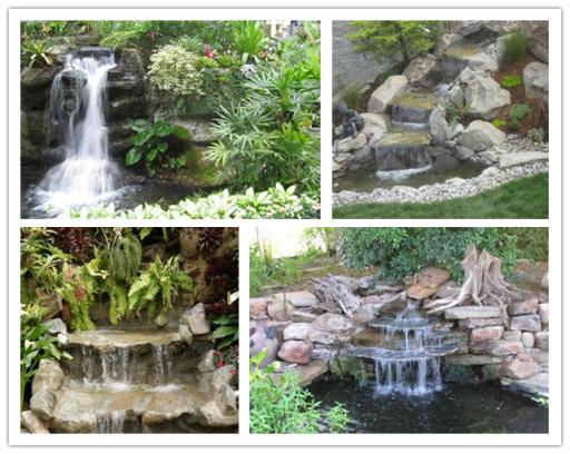 How to build a garden waterfall pond diy tag for Building a fountain pond