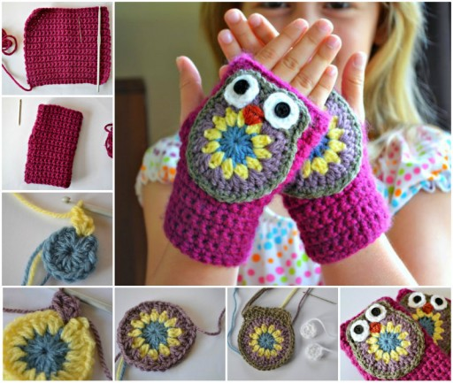 How To Crochet Adorable DIY Owl Mittens