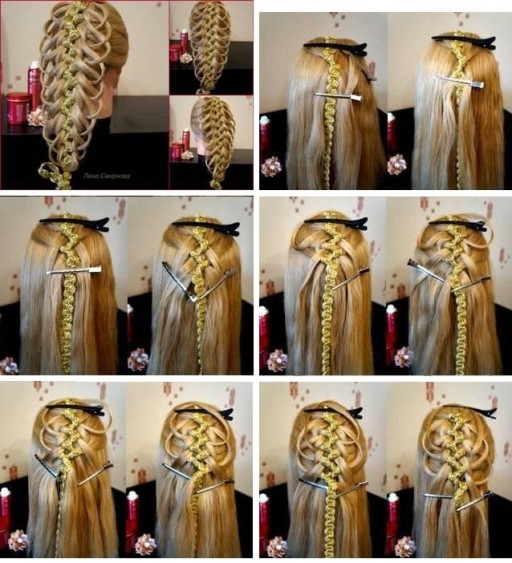 How To Do Delicate Five Strand Braid Hair Style