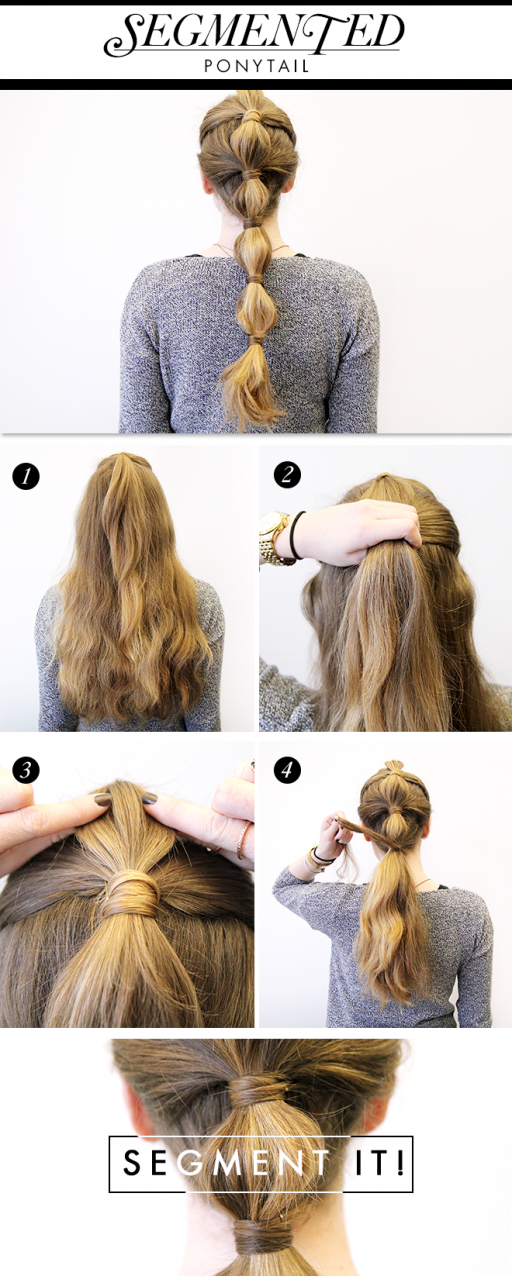 How To Do Pretty Segmented Ponytail Hairstyle