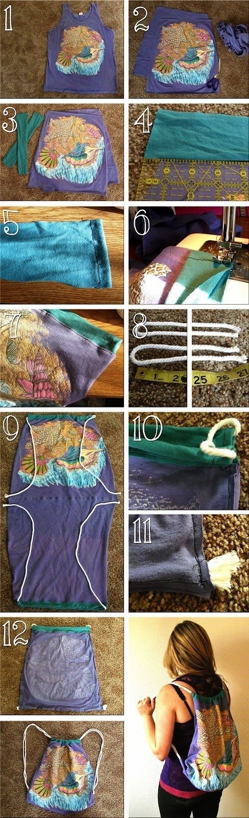 How To Make A Beach Tote From A Tank Top 2