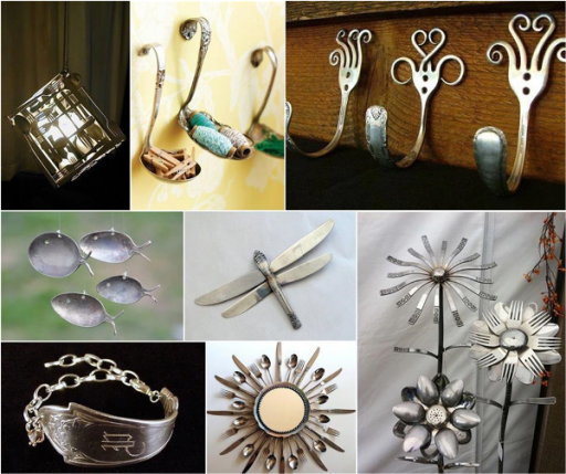 How To Make Artistic DIY Spoon Silverware Decorations 2
