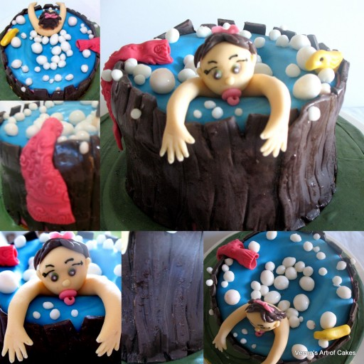 How To Make Baby Shower Bath Tub Cake Tutorial
