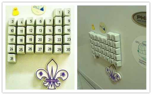 How To Make DIY Magnetic Keyboard Calendar