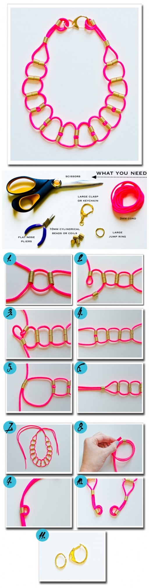 How To Make DIY Neon Paracord Necklace 2