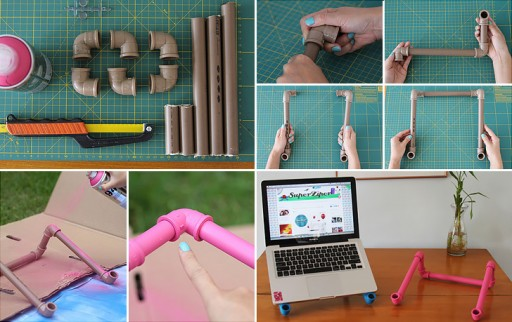 How To Make DIY PVC Pipe Laptop Stand