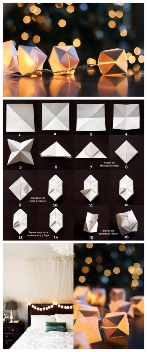 How To Make DIY Paper Cube String Lights 2