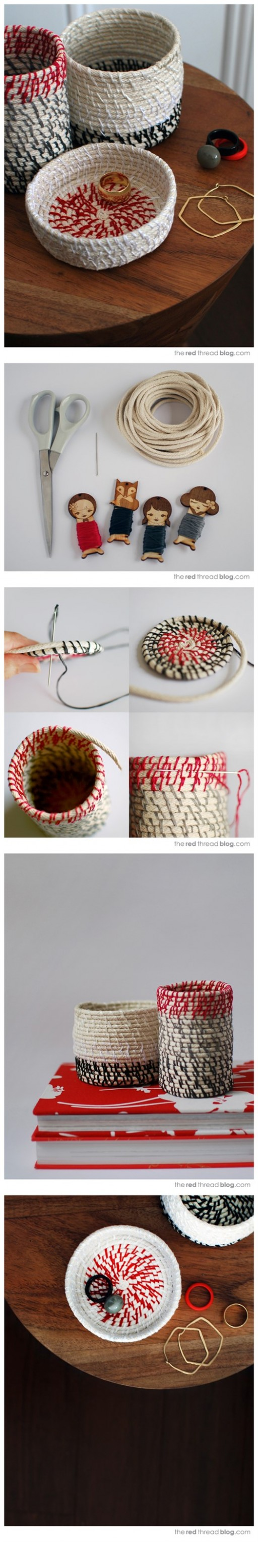How To Make DIY Rope Coil Vessels Tutorial 2