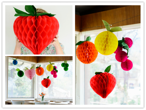 How To Make Honeycomb Tissue Ball Decorative Fruits