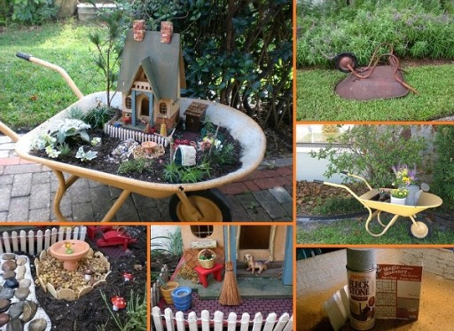 How To Make Miniature Wheelbarrow Garden Step By Step DIY Tutorial Instructions