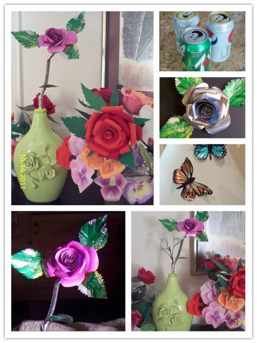 How To Make Roses From Recycled Soft Drink Cans 1