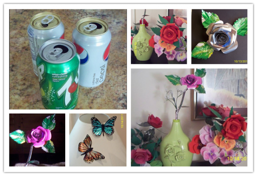 How To Make Roses From Recycled Soft Drink Cans
