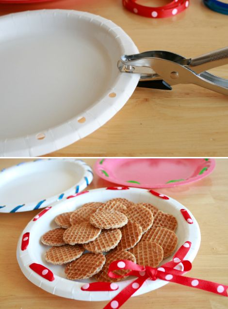 How To Make Simple Ribbon Wreath Plates 2