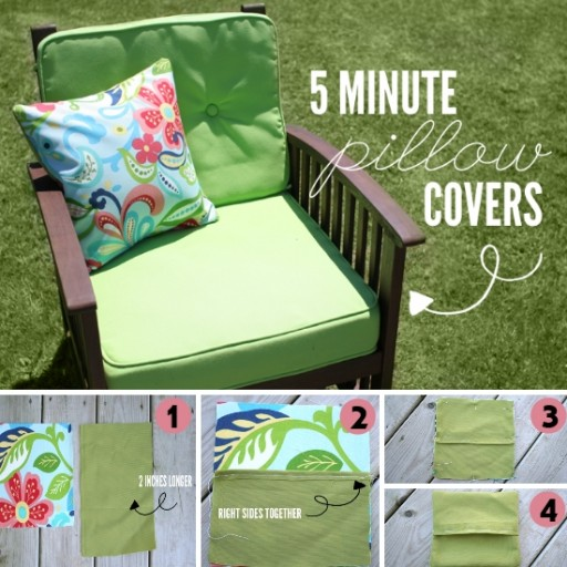 How To Make Your Own DIY Pillow Covers In 5 Minutes
