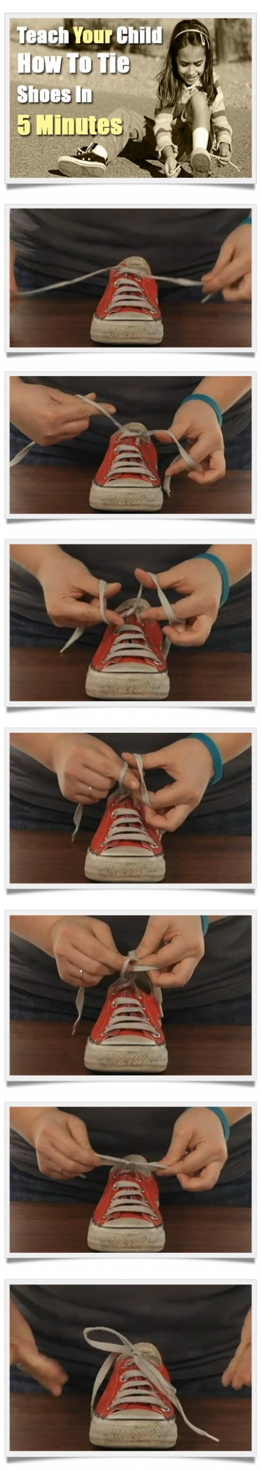 How To Teach Your Child To Tie Shoes In 5 Minutes 1