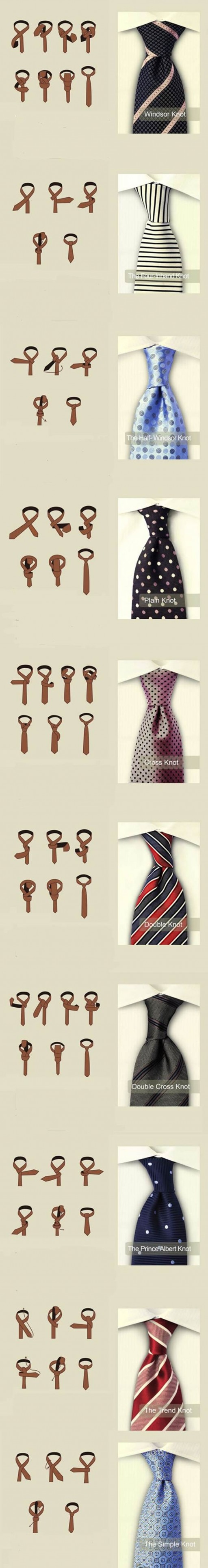 How To Tie A Tie - DIY Experts Teach You 10 Ways To Tie A Tie 2