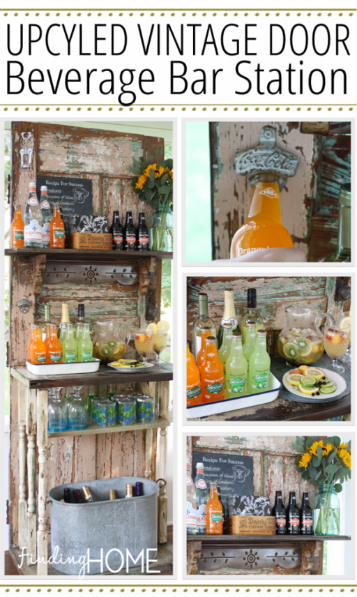 How To Upcycle A Vintage Door Into A beverage Bar Station 1