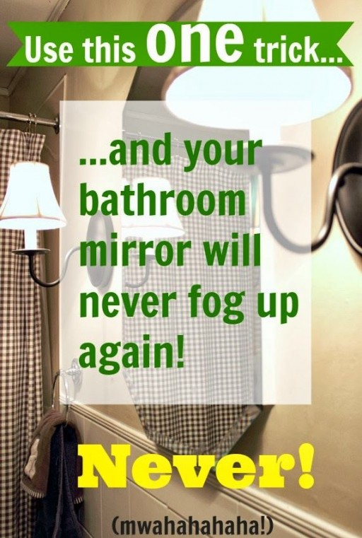 How To Use This Trick To Keep Your Bathroom Mirror Fog Free