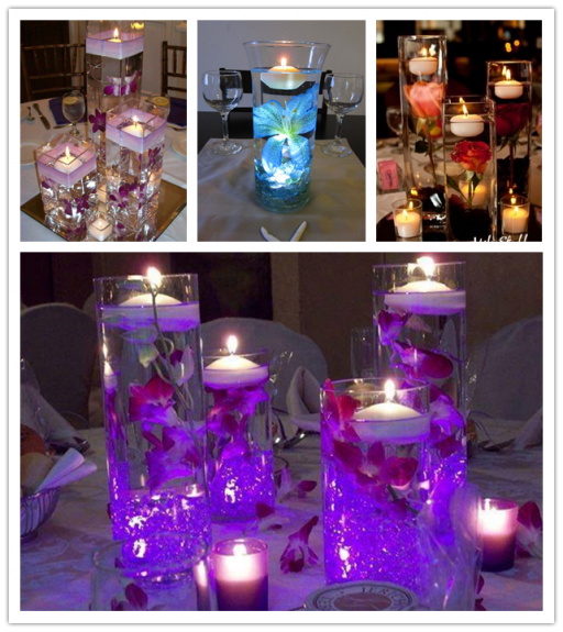 Lovely Floating Candles Wedding Centrepiece Ideas
