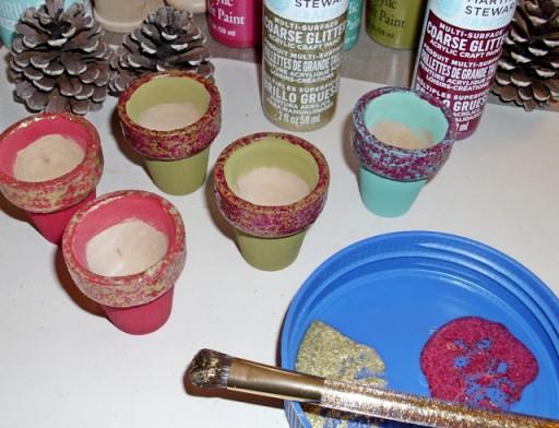 Mini Pine Cone Tree Pot DIY Tutorial 2
