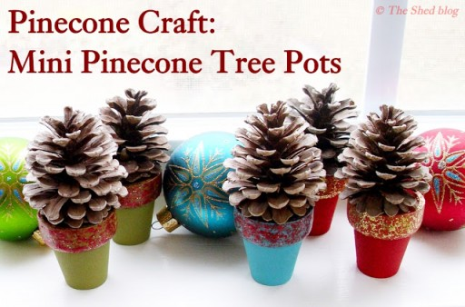 Mini Pine Cone Tree Pot DIY Tutorial 3