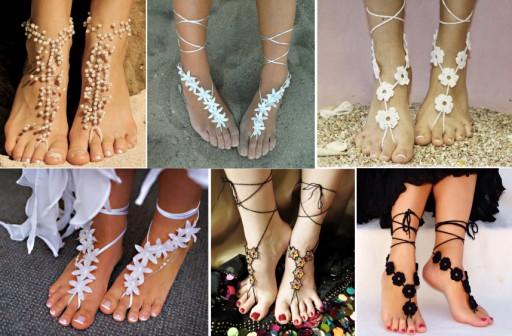 Sexy DIY Barefoot Sandal Tutorial