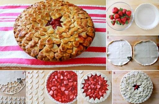 Strawberry Heart Pie Recipe And Directions