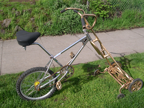 Turn A Bicycle Into A DIY Bike Lawn Mower... Truly Self Propelled Lawn Mower! 4
