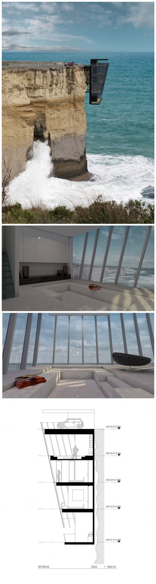 Wonderful Cliff House By Modscape Concept 2