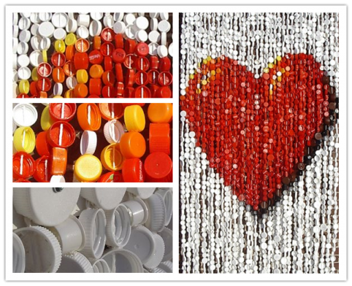 Wonderful DIY Fly Curtain Made Of Plastic Bottle Caps 3