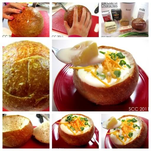 Yummy DIY Cheese Potato Soup In A Bread Bowl Recipe