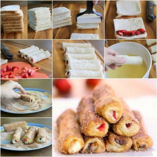 Yummy DIY French Toast Roll-ups Recipe