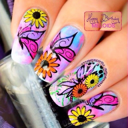 12 Gorgeous Butterfly Inspired Nail Designs 13