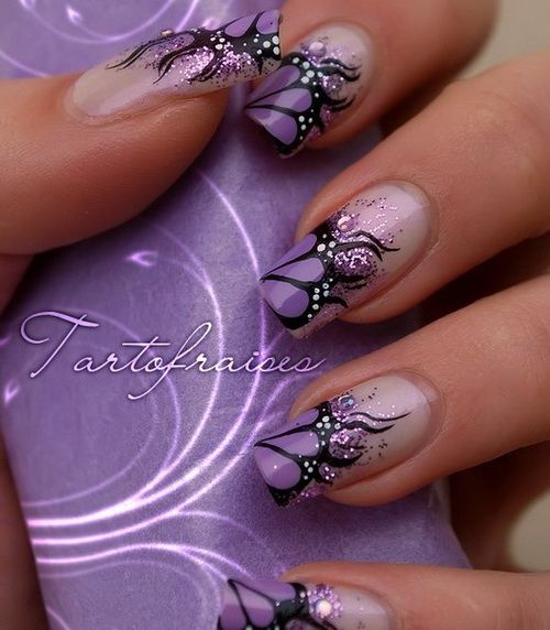 12 Gorgeous Butterfly Inspired Nail Designs 3