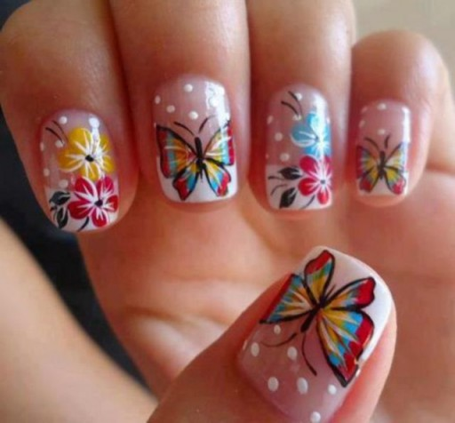 12 Gorgeous Butterfly Inspired Nail Designs 8
