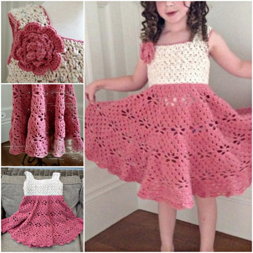 Adorable DIY Little Girl Vintage Dress Free Crochet Pattern