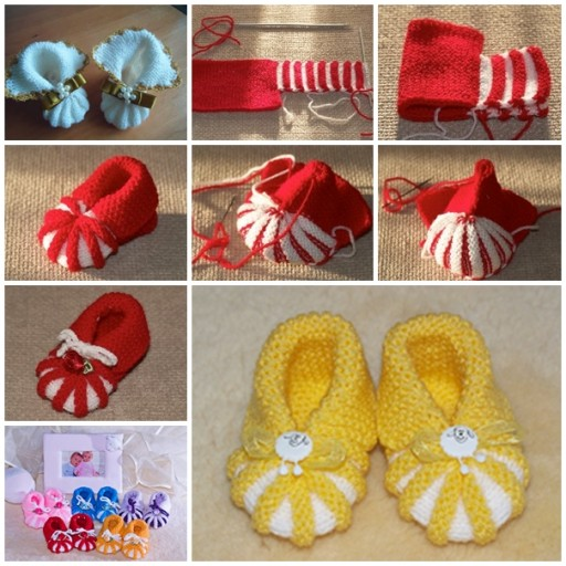 Pinterest Free Knitting Patterns For Baby Booties : Baby Shoes Free Knit Pattern DIY Tag