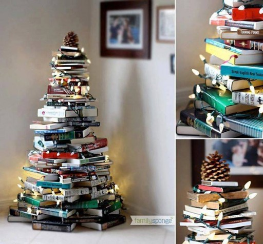 Book Christmas Tree - Wonderful DIY Home Decor