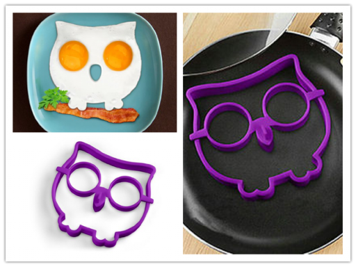 Cook Funny Side Up Owl Shaped Egg With This Novelty Egg Ring
