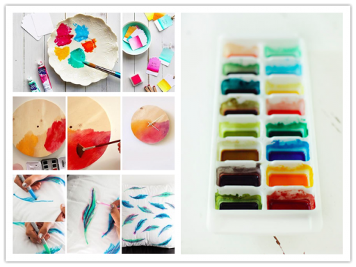 Cool art projects with watercolor diy tag for Homemade arts and crafts