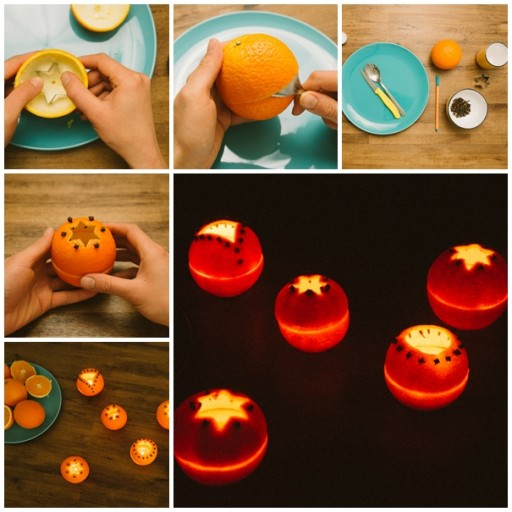 Crafts For Kids - Orange Peel Candles
